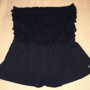 Navy Hollister Tube Top Size:M Good Condition.